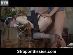 Susanna and Ranald female clothed couple in action